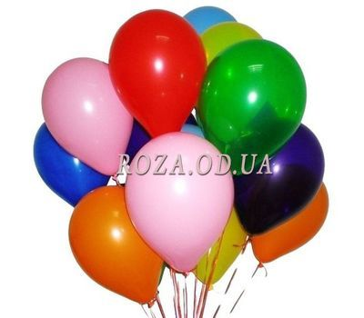 """""""11 разноцветных шариков"""" в интернет-магазине цветов roza.od.ua"""