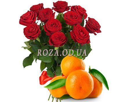 """""""11 роз с мандаринами"""" в интернет-магазине цветов roza.od.ua"""