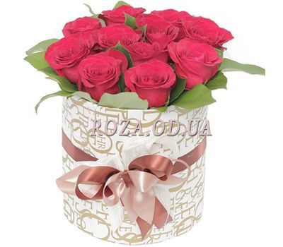 """11 roses in a box"" in the online flower shop roza.od.ua"