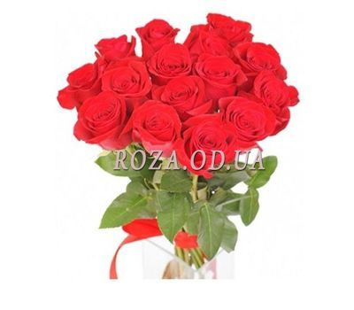 """15 red roses"" in the online flower shop roza.od.ua"