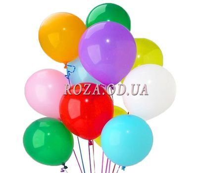 """15 bright multi-colored balloons."" in the online flower shop roza.od.ua"