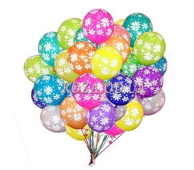 """""""25 helium balloons with a pattern"""" in the online flower shop roza.od.ua"""
