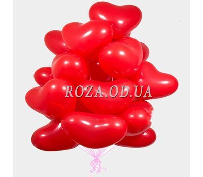 """""""25 balloons in the shape of heart"""" in the online flower shop roza.od.ua"""