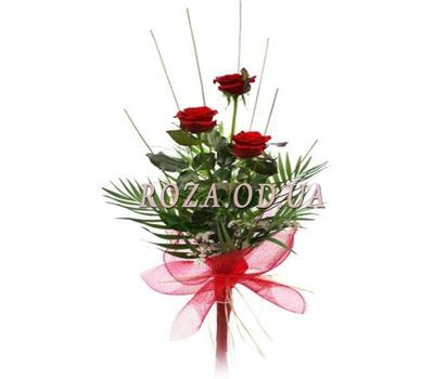"""3 roses with greens"" in the online flower shop roza.od.ua"