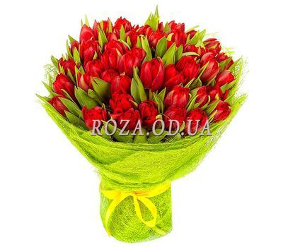 """""""45 red tulips"""" in the online flower shop roza.od.ua"""