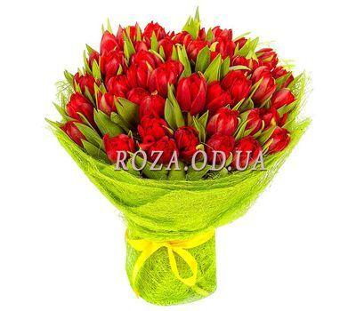 """""""45 красных тюльпанов"""" в интернет-магазине цветов roza.od.ua"""