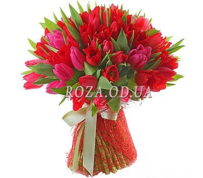 """51 red tulip"" in the online flower shop roza.od.ua"