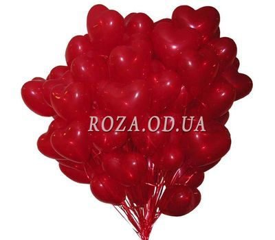 """51 beads in the shape of heart"" in the online flower shop roza.od.ua"
