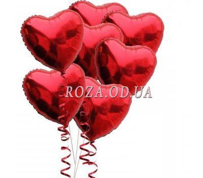 """""""7 воздушных шариков в форме сердца"""" в интернет-магазине цветов roza.od.ua"""