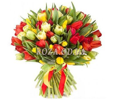 """75 tulips"" in the online flower shop roza.od.ua"