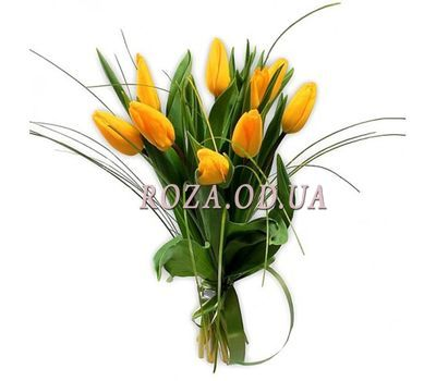 """""""9 yellow tulips"""" in the online flower shop roza.od.ua"""