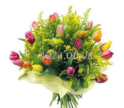 """""""Large bouquet with mimosa"""" in the online flower shop roza.od.ua"""