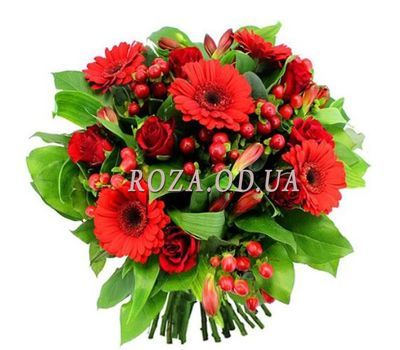 """Bouquet of roses, gerberas and alstroemerias"" in the online flower shop roza.od.ua"
