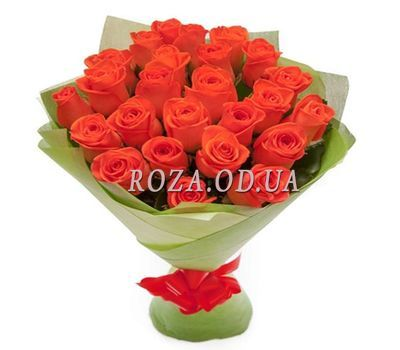 """Bouquet of 25 orange roses"" in the online flower shop roza.od.ua"