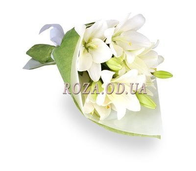 """3 white lilies"" in the online flower shop roza.od.ua"