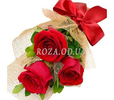 """Bouquet of 3 roses"" in the online flower shop roza.od.ua"