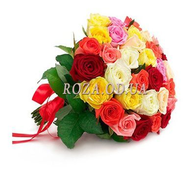 """Bouquet of different color roses"" in the online flower shop roza.od.ua"