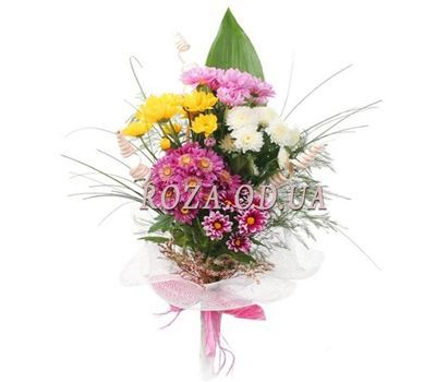 """Bouquet of 5 chrysanthemums"" in the online flower shop roza.od.ua"
