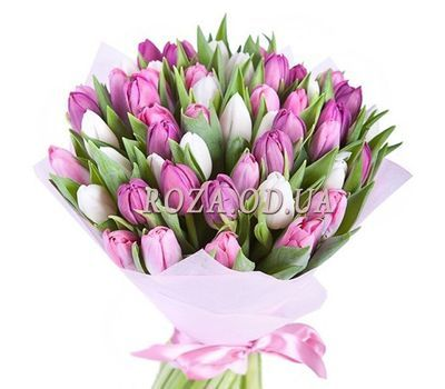 """""""Bouquet of 51 tulips"""" in the online flower shop roza.od.ua"""