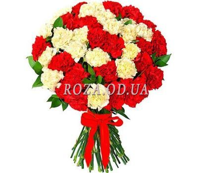 """Bouquet of 55 carnations"" in the online flower shop roza.od.ua"