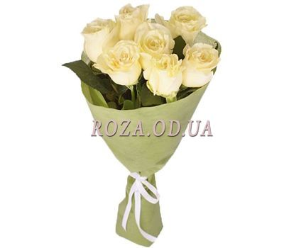"""Bouquet of 7 white roses"" in the online flower shop roza.od.ua"