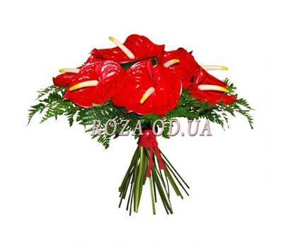 """Bouquet with anthurium"" in the online flower shop roza.od.ua"