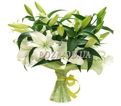 """7 white lilies"" in the online flower shop roza.od.ua"