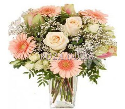 """Bouquet of gerberas, roses and alstroemerias"" in the online flower shop roza.od.ua"