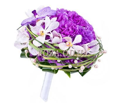 """Bouquet of carnations and orchids"" in the online flower shop roza.od.ua"