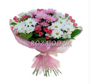 """Bouquet of rose-spray and chrysanthemums"" in the online flower shop roza.od.ua"