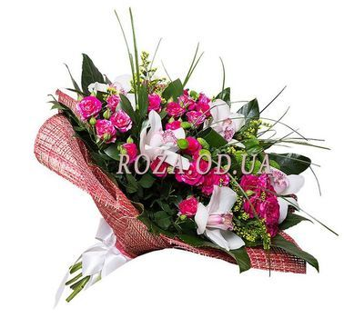 """Bouquet of orchids and bush roses"" in the online flower shop roza.od.ua"