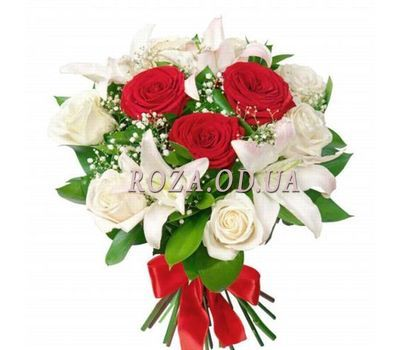 """Bouquet of lilies and roses"" in the online flower shop roza.od.ua"