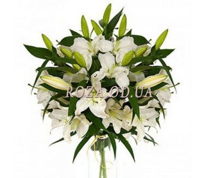 """""""9 white lilies"""" in the online flower shop roza.od.ua"""