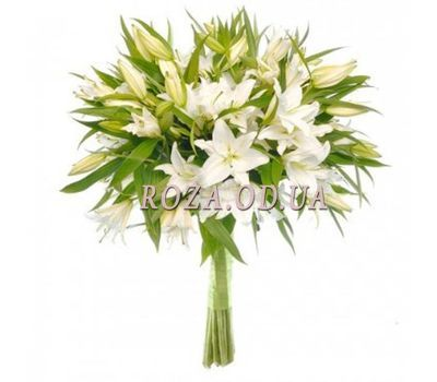 """""""11 white lilies"""" in the online flower shop roza.od.ua"""
