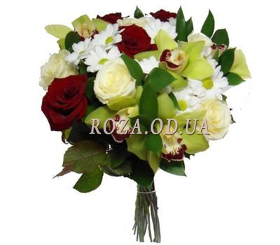 """Bouquet of orchids, chrysanthemums and roses"" in the online flower shop roza.od.ua"
