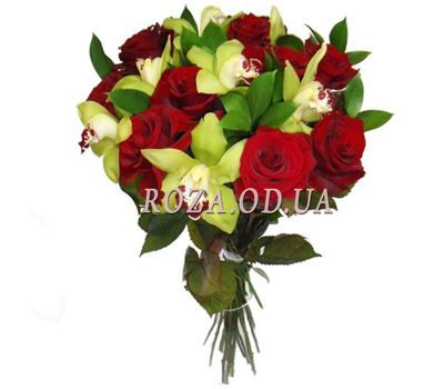 """Bouquet of orchids and roses"" in the online flower shop roza.od.ua"