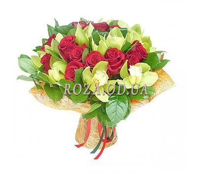 """""""Bouquet of orchids with roses"""" in the online flower shop roza.od.ua"""