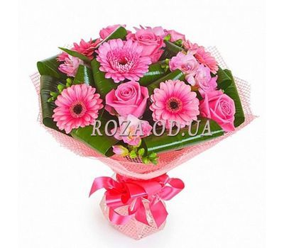 """Bouquet of roses and gerberas"" in the online flower shop roza.od.ua"