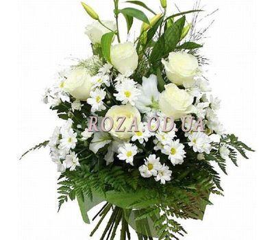 """Bouquet of roses and lilies"" in the online flower shop roza.od.ua"