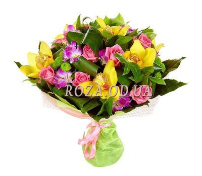 """Bouquet of roses and orchids"" in the online flower shop roza.od.ua"