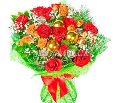 """Bouquet for the New Year"" in the online flower shop roza.od.ua"