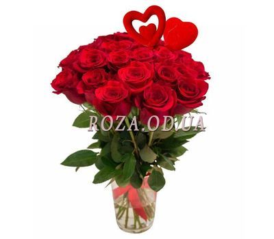 """Bouquet of roses for Valentine"" in the online flower shop roza.od.ua"