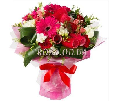 """Bouquet with curlers"" in the online flower shop roza.od.ua"