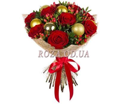 """Bouquet with Christmas toys"" in the online flower shop roza.od.ua"