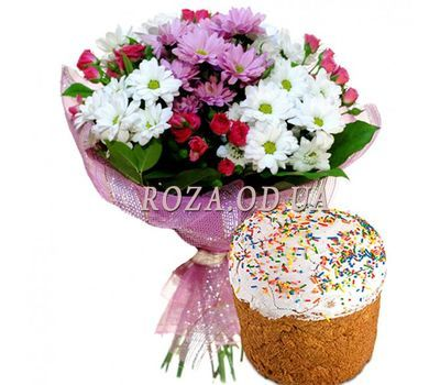 """Bouquet with a pasque"" in the online flower shop roza.od.ua"