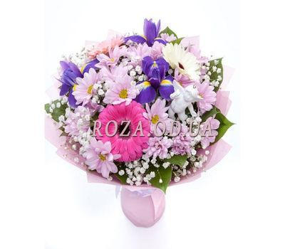 """Bouquet with irises"" in the online flower shop roza.od.ua"