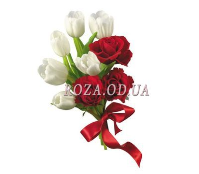 """""""Bouquet with tulips"""" in the online flower shop roza.od.ua"""