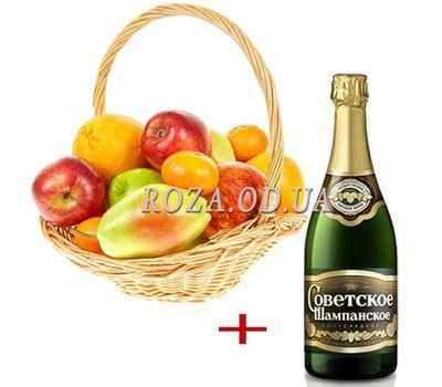 """Fruit with champagne"" in the online flower shop roza.od.ua"