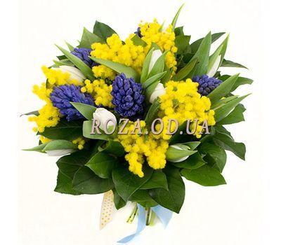 """Hyacinths and mimosa"" in the online flower shop roza.od.ua"