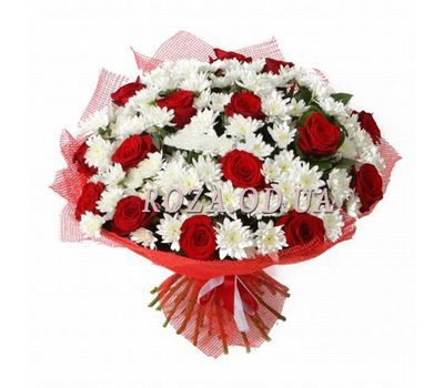"""""""Chrysanthemums and roses"""" in the online flower shop roza.od.ua"""